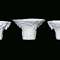 Three small Blanc de Chine porcelain libation cups, China, Dehua, Qing Dynasty, <b>18th</b> <b>century</b>
