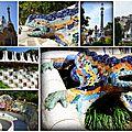 Le <b>Parc</b> Guëll à Barcelone