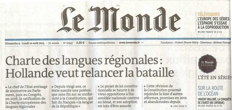Le Monde langues minoritaires