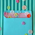 DIY récup : les doublures d'enveloppes pour les <b>cartes</b> de <b>voeux</b> et invitations