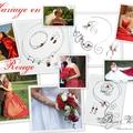 Mariage en rouge, <b>bijoux</b> de mariée en rouge, collier mariage perles rouges bordeaux