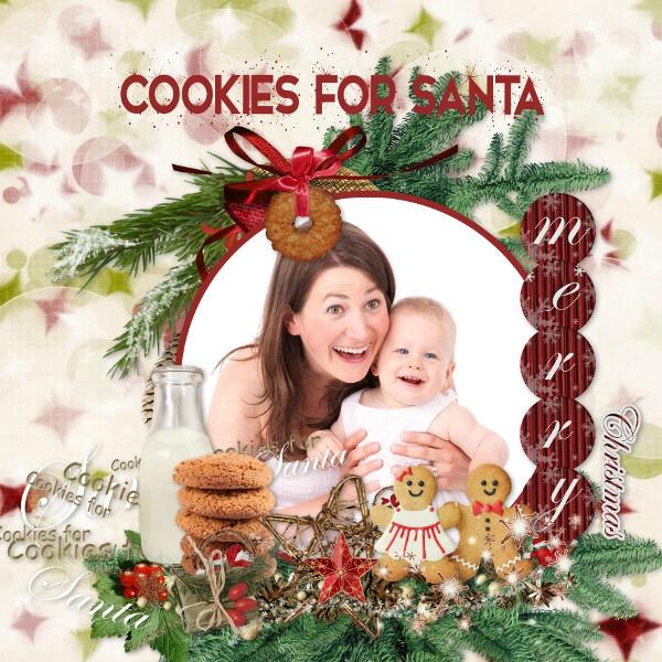 Leaugoscrap - cookies for santa - photo Pixabay