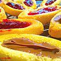 Barquette à la fraise, chocolat, franmboise façon