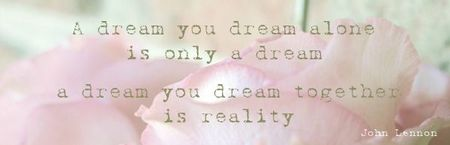 a dream you dream alone