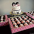{Sweet table minnie mouse rose} <b>cupcakes</b> minnie mouse et wedding cake minnie mouse pink