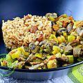 Curry de champignons et riz à l'<b>indienne</b> (sans gluten)