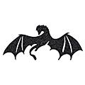 dragon noir pailleté flex thermocollant