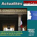 Le Conseil constitutionnel annule deux législatives