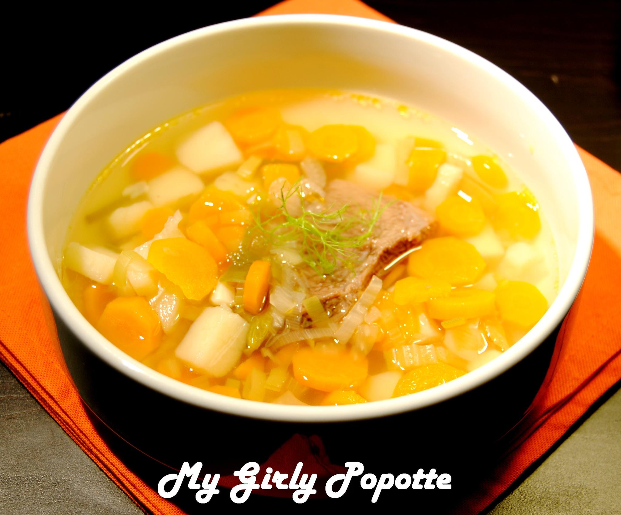 soupe de l 233 gumes comme un pot au feu recette
