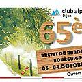 <b>Brevet</b> du randonneur du Club Alpin 04/10/2015