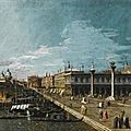 Circle of <b>Bernardo</b> <b>Bellotto</b>. Venice, a view along the Molo, looking west, towards the Punta della Dogana