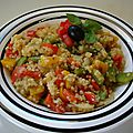 Boulghour aux légumes flashy/Bulgur with flashy vegetables