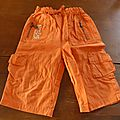 pantalon léger <b>bébé</b> garçon 12 mois orange 0.50€