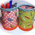 Portes-crayons en <b>boîtes</b> de <b>conserve</b>
