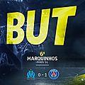 But Marquinhos Marseille PSG 0-1