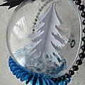 Décoration d'une <b>boule</b> de <b>Noël</b> transparente ...
