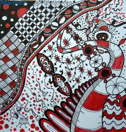 Zentangle_006_Red_Planet