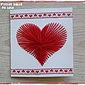 DIY pour la Saint Valentin : une <b>carte</b> coeur avec de la laine