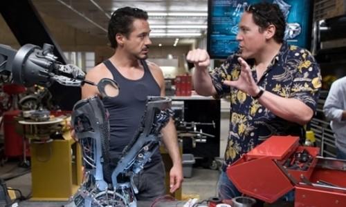 Jon Favreau (le réalisateur) et Robert Downey Jr.
