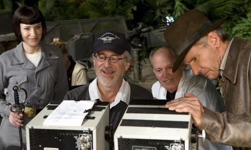 Cate Blanchett, Steven Spielberg, Frank Marshall & Harrison Ford