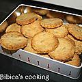Biscuits sablés au gingembre <b>confit</b>