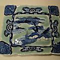 Plat Porcelaine Nabeshima Céladon Imari Meiji Japanese Porcelain