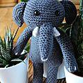 Doudou Eléphant #3 <b>Agathe</b> Rose