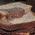 Un quatre-quarts marbré à la farine de blé noir torréfiée pour septs Saints lichous