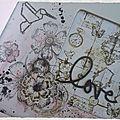 objet destructuré : plateau Ode à l'amour