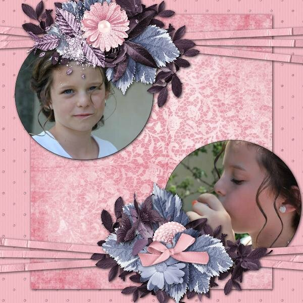 Flomelle - template 4 pack 3 -kit eternal sweetness de Scrap'Angie - photo Caroline