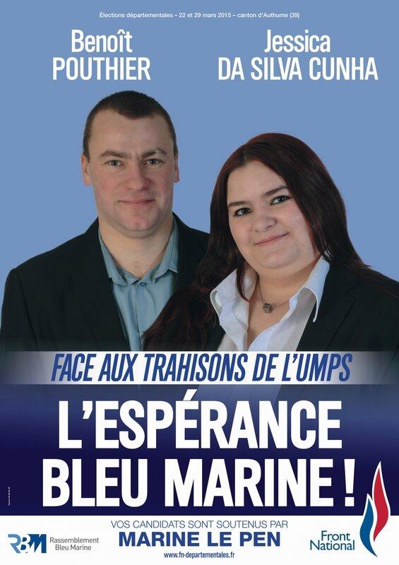 Authume Benoit Pouthier et Jessica Da Silva Cunha