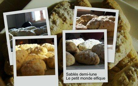recettes  Croissants de lune type Bahlsen