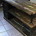 meuble tv industriel pour Jeanne