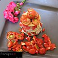 Tomato recipe...A colorfull appetizer !