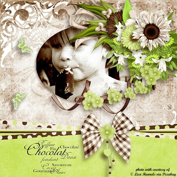 Page de Chrystal -kit Minty Chocolate de A Space Between - photo Lisa Runnels - WA Saskia