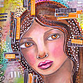 Mixed media girl
