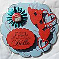 CARTE SCRAP <b>SAINT</b> <b>VALENTIN</b>