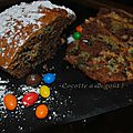 Les M&M'<b>s</b> attaquent le cake au chocolat !