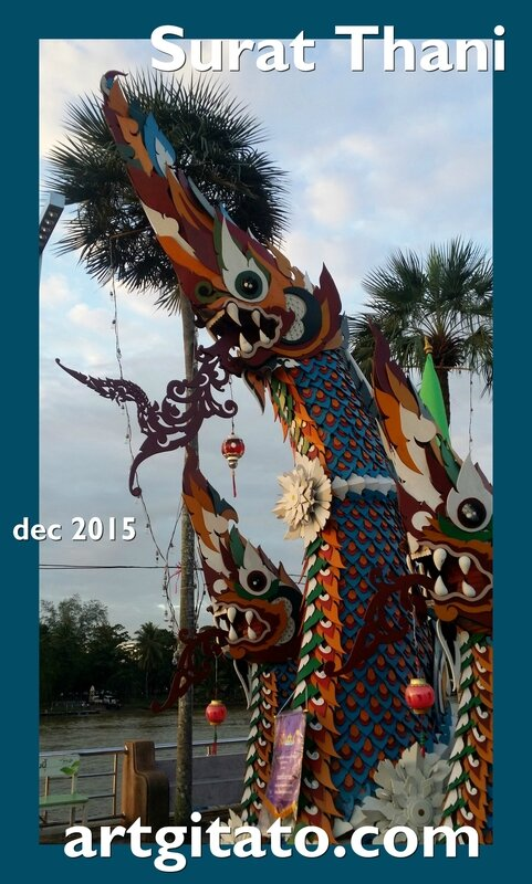 Surat Thani Thailande Artgitato Char déc 2015 13