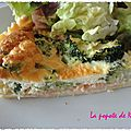 Quiche <b>saumon</b> brocolis