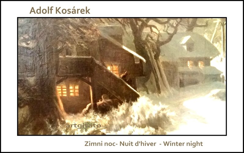 Adolf Kosárek Zimni noc Nuit d'hiver Winter night 1857 Artgitato 8