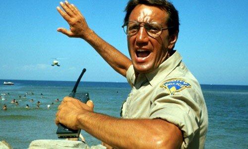 Roy Scheider dans Les Dents de la mer