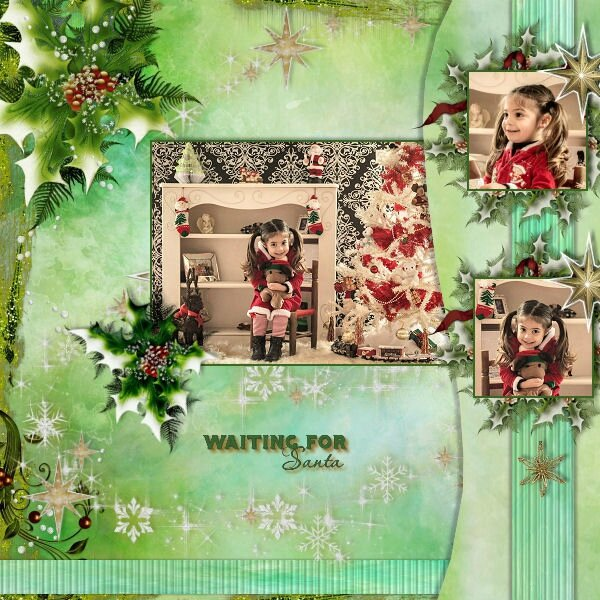 template Louise 3- page de Louise- kit the magic of Christmas
