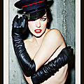 Milla Jovovich photographed by <b>Ellen</b> <b>von</b> <b>Unwerth</b>