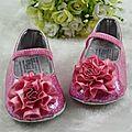 Chaussures pour bébé <b>rose</b> fushia 9/12 mois