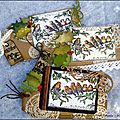 A set of Christmas tags and cards for Crafty Individuals - Une série de <b>cartes</b> et tags pour Crafty Individuals
