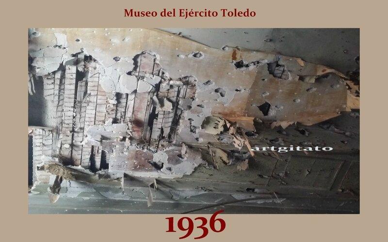Museo del Ejército Toledo Musée de l'Armée Tolède Artgitato 1936 plafond