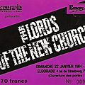The <b>Lords</b> of the New Church - Dimanche 22 Janvier 1984 - Eldorado (Paris)