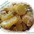 varions les plaisirs d'une salade de <b>pomme</b> de terre