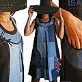 Patchwork de Jean et Tartan écossais : la robe <b>trapèze</b> adopte un look Graphique et Sixties révisité !